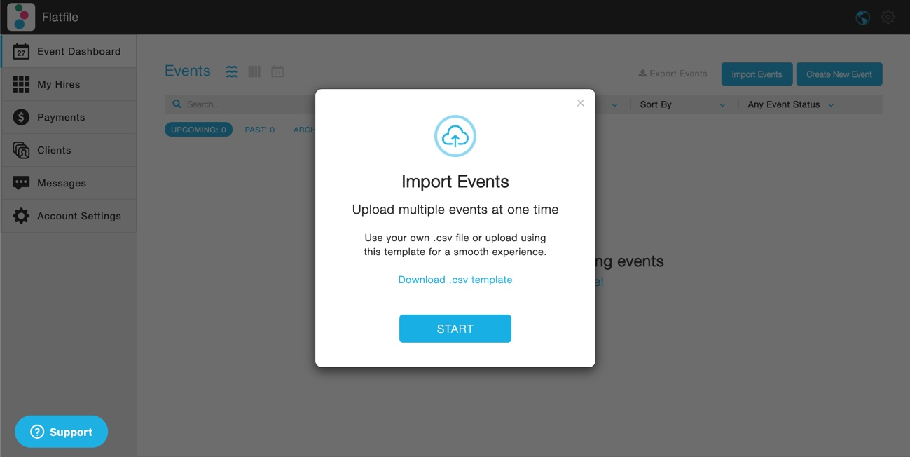 PopBookings CSV Import - Event Staffing Software - Powered by Flatfile.io